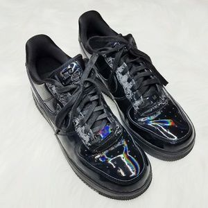 Nike Shoes - Nike Air Force 1 07 Black Reflective Holo Sneakers